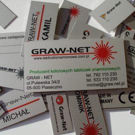 Wizytówki aluminiowe