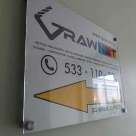 Tablica firmowa, z logo firmy