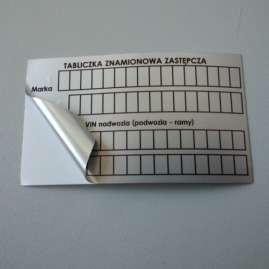 Tabliczka z folii poliestrowej